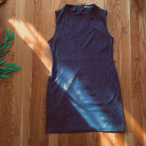 Dresses & Skirts - Chloe | Gray Suede Sleeveless Dress
